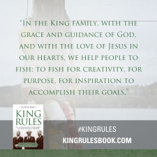 """In the king family, with the grace and guidance of God, and with the love of Jesus in our hearts..."" #KingRules http://kingrulesbook.com"